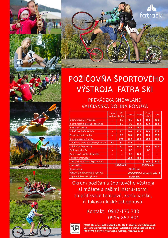 Cenník Fatraski škola a požičovňa 3f0669dcb95